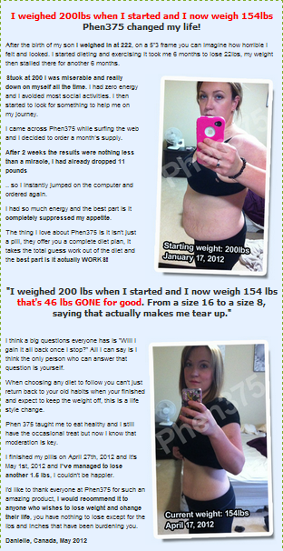 Weight loss testimonial by Danielle