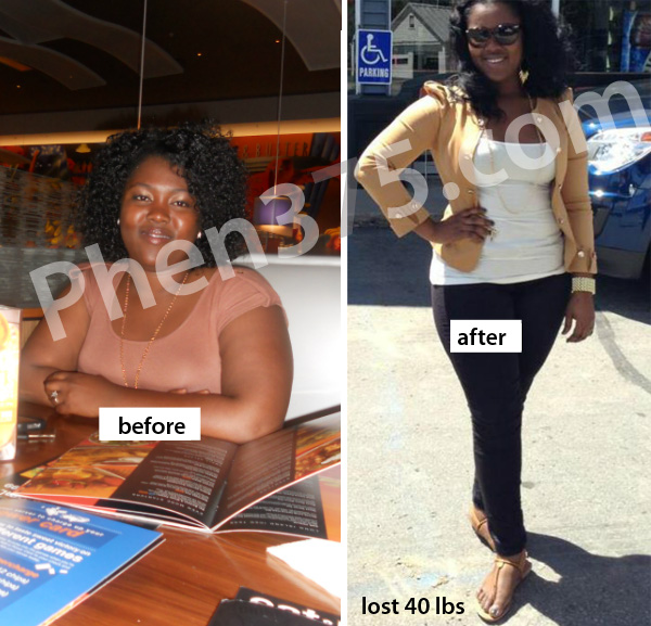 Before and after weight loss with Phen375